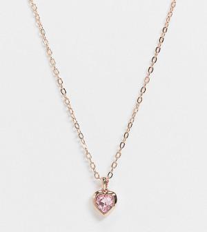 Ожерелье цвета розового золота с подвеской-сердечком с кристаллом Ted Baker Hannela-Золотистый