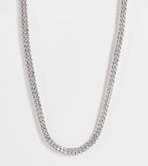 Эксклюзивное ожерелье-чокер со стразами True Decadence-Серебряный
